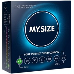 My Size Natural Latex Condom 47 Width 3 PCS
