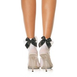 Leg Avenue Ruffle with Satin Bows Anklet