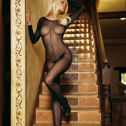 Leg Avenue Sheer Scoop Neck Bodystocking