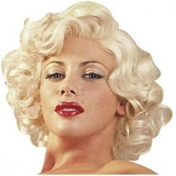 Curly Platinum Blonde Wig