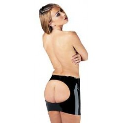 Rubber Secrets Open Back Mini Skirt