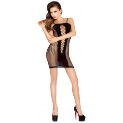 Passion Large Fishnet Dress Black
