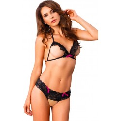 Leg Avenue Sexy Bra Top and Panty UK 8 to 14