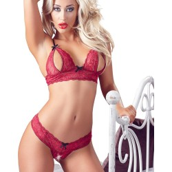 Cottelli Bra Set Open Cup and Crotchless Set